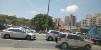 Acidente na Avenida Professor Abraão de Morais
