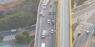 Acidente no Viaduto Grande São Paulo