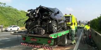 Carro Acidente na rodovia dos Imigrantes