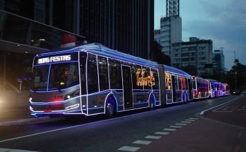 Ônibus natalinos São Paulo