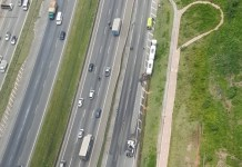 Carreta rodovia Ayrton Senna
