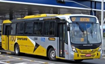 Tarifa de ônibus em Americana
