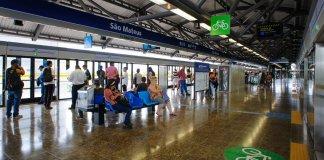 Plataforma da estação São Mateus da Linha 15-Prata