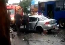 Acidente SBCTrans Carro Rua Álvaro Alvim