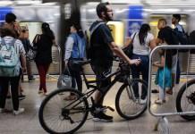 Bicicleta no Metrô Bicicletários