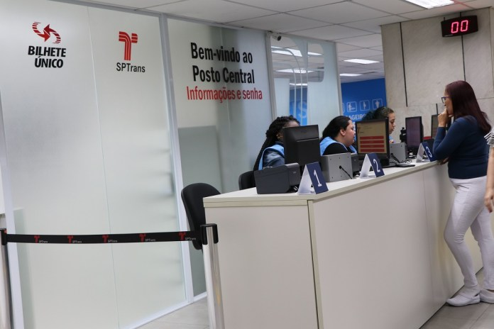Posto Central da SPTrans Agendamento Bilhete Único