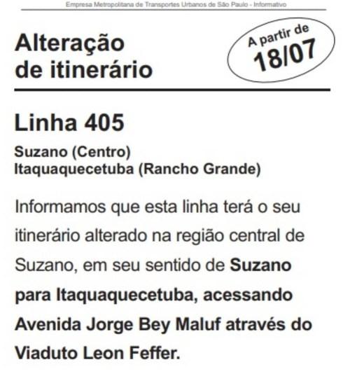 Unileste Linha 405