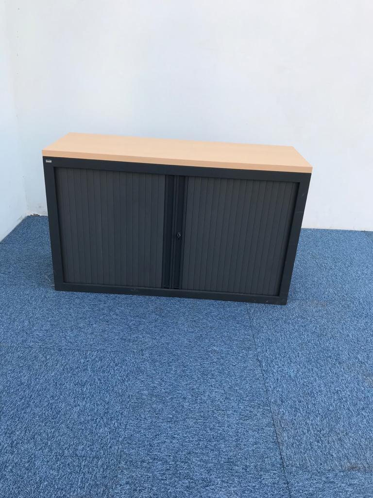 armoire basse metallique vinco 120x73cm anthracite