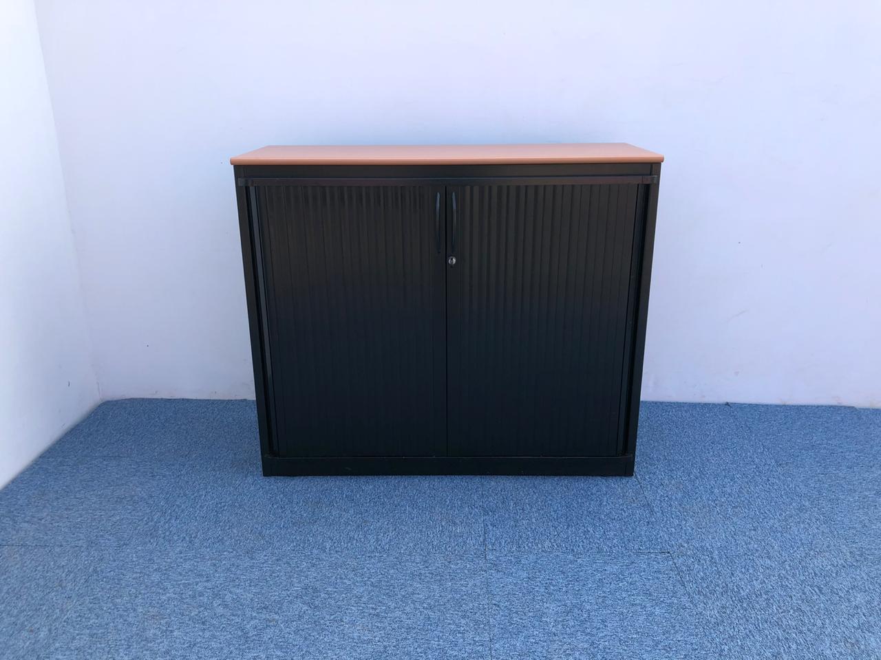 armoire basse metallique 120 100 cm noir