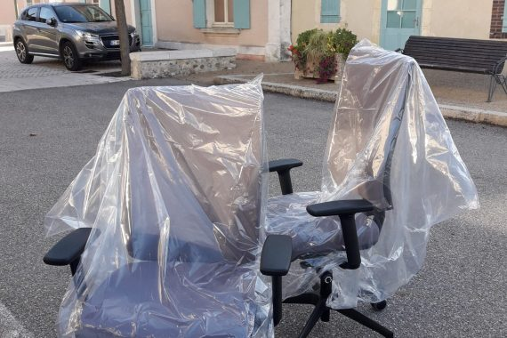 Installation de sièges en mairie (Orne 61)