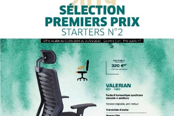 Sélection Premiers Prix – Starters N°2 09-19 au 01-20 – Mobilier de Bureau Alençon