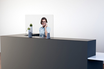 PAPERFLOW Ecran de comptoir, acrylique, (L)980 x (H)650 mm