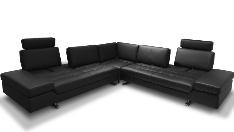canape angle cuir xxl dossiers modulables matheo