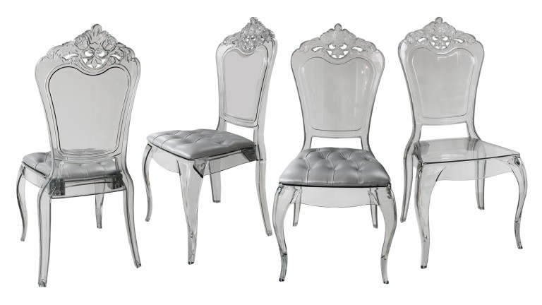 Lot De 4 Chaises Astorga Design En Plexi Transparent