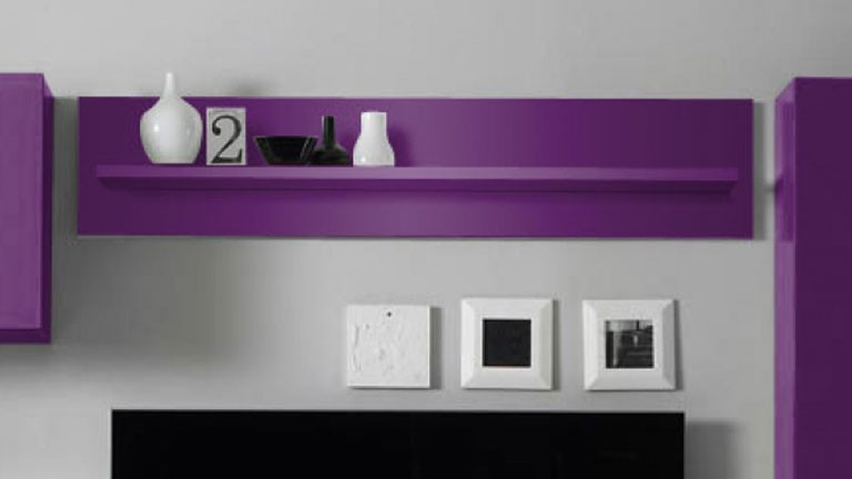 Etagere Suspendue Ox Color Violette Mobilier Moss With