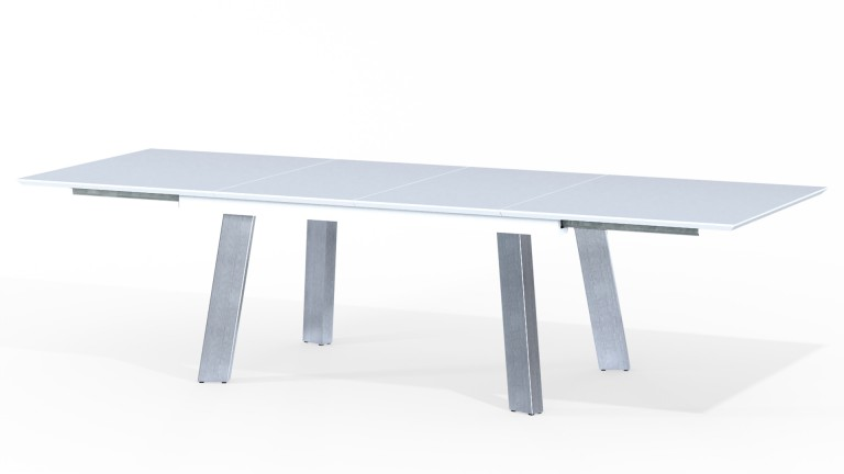 table manger 12 personnes laquee blanc 180 300 cm dany