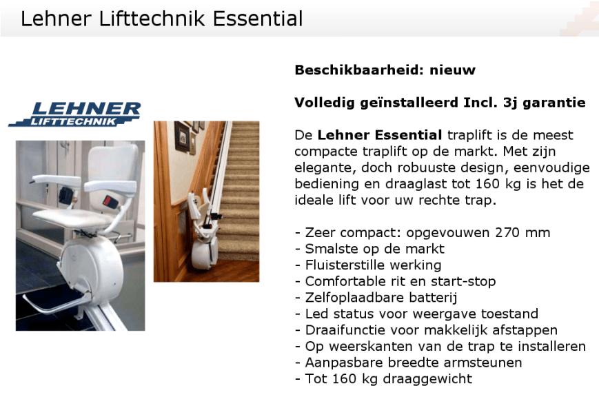 Karakteristieken Lehner Essential