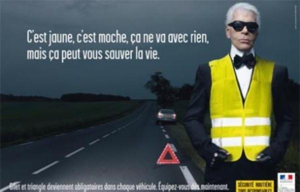 Sécurité Routière : Karl Lagerfeld