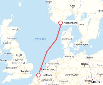 Oostende-Kristiansand Veerboot