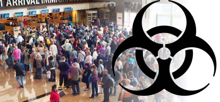 Bio hazard and spread of disease risk through air travel