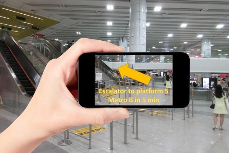 Indoor navigation with augmented