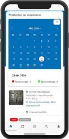 Consultar calendario equipamiento en la GMAO