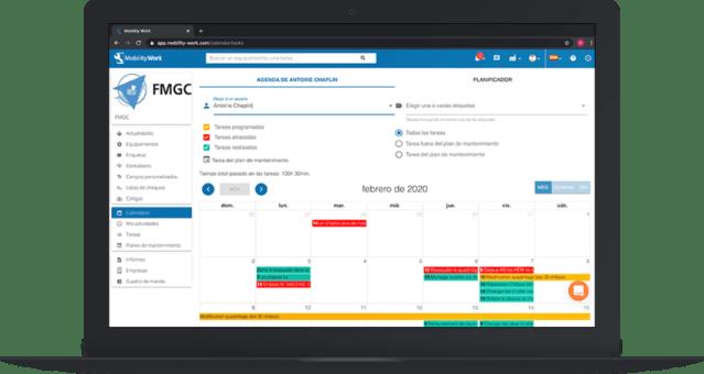 Consultar calendario equipo GMAO