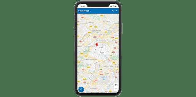 gmao mobile géolocalisation équipement