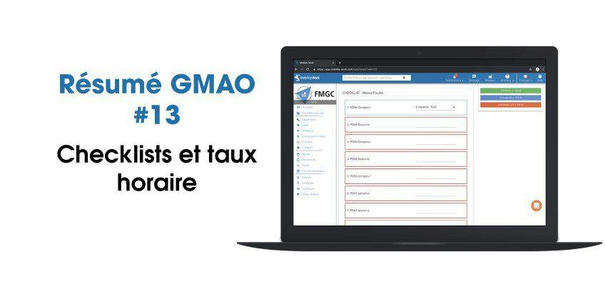 Nouveautés GMAO : checklists et taux horaire | Août 2020