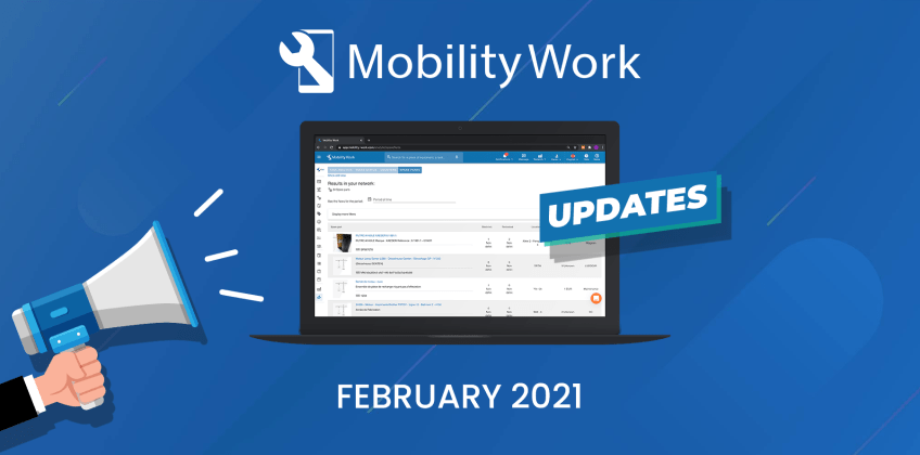 CMMS new features: mobile update and new analytical table
