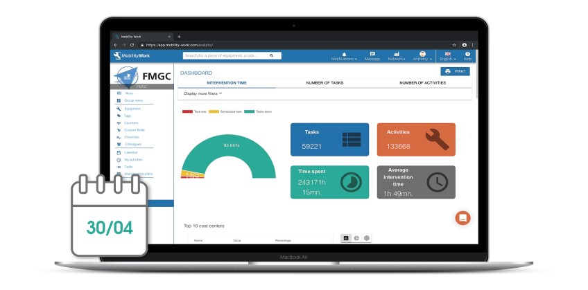 CMMS updates: Mobility Work's new analytical dashboard
