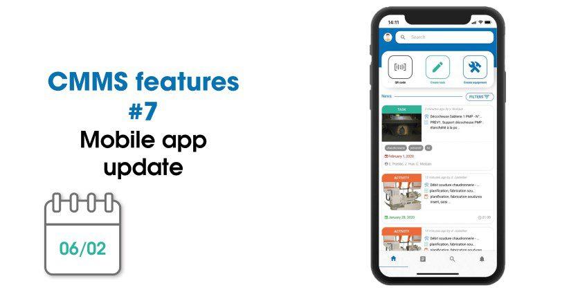 CMMS updates: mobile app's new design | February 2020