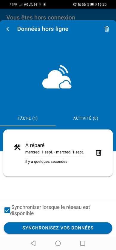 Utiliser le mode hors-ligne de la GMAO mobile