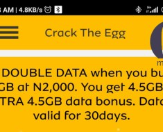 MTN 9gb for 2000 naira promo deal