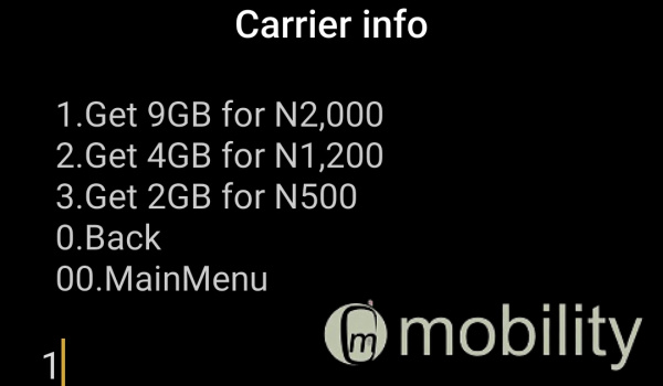 MTN 9gb for 2000 naira via ussd