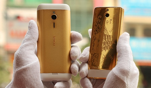 nokia 230 goldplated rear