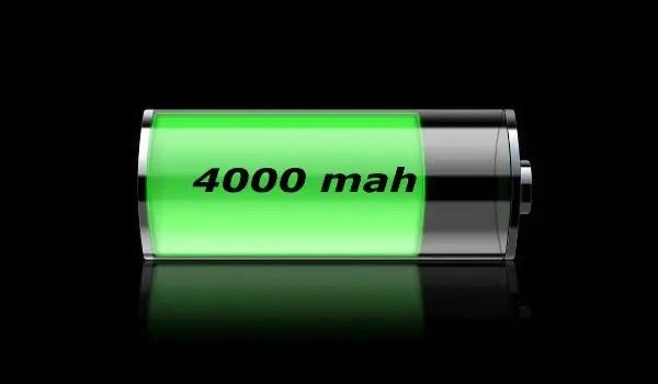 4000 mAh battery