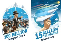 Telegram 100 million