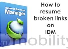 How to resume broken downloads on Internet Download Manager 10