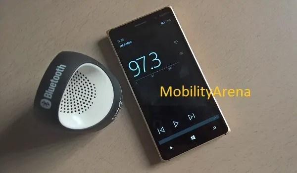 FM radio Windows 10 Mobile
