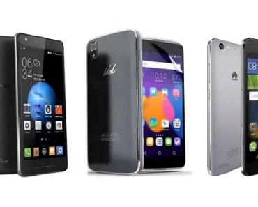 TECNO Boom J8 - Alcatel idol 3 - Huawei GR3