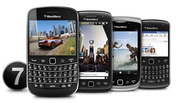 BlackBerry 7 smartphones