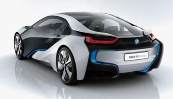 BMW i8 electric supercar rear