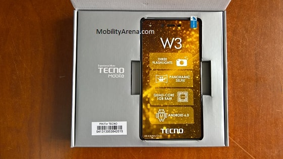 TECNO W3 Photos box open