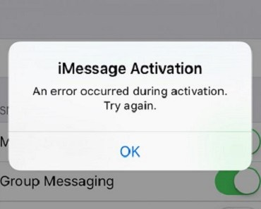 iMessage activation error