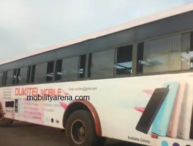 OukitelMobile Nigeria branded bus
