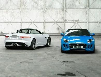2017 Jaguar F Type two types blue white