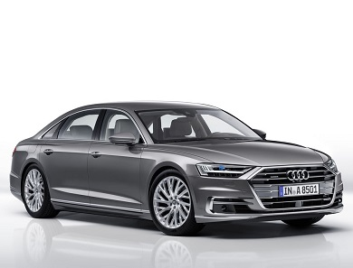 Audi A8 grey front angle