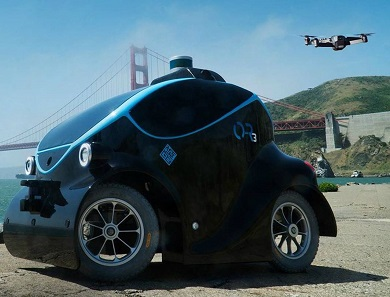 Self-driving robotic police car