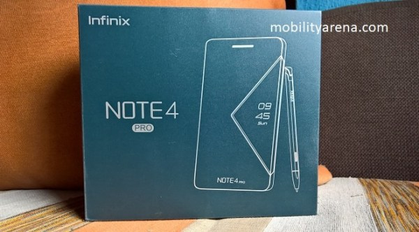 Infinix Note 4 Pro first impressions box